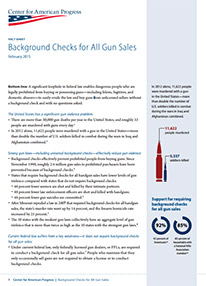 Background Checks for All Gun Sales Fact Sheet