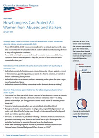 How Congress Can Protect All Women from Abusers and Stalkers Fact Sheet
