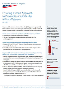 Ensuring a Smart Approach to Prevent Gun Suicides by Military Veterans Fact Sheet